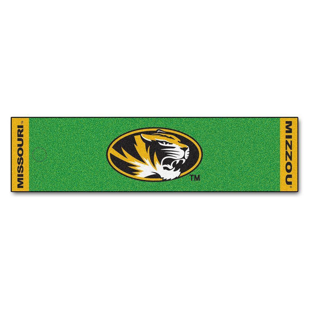 NCAA University of Missouri 1 ft. 6 in. x 6 ft. Indoor 1-Hole Golf Practice Putting Green