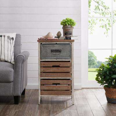 31.5 in. Maxwell Crates 3 Drawer Table