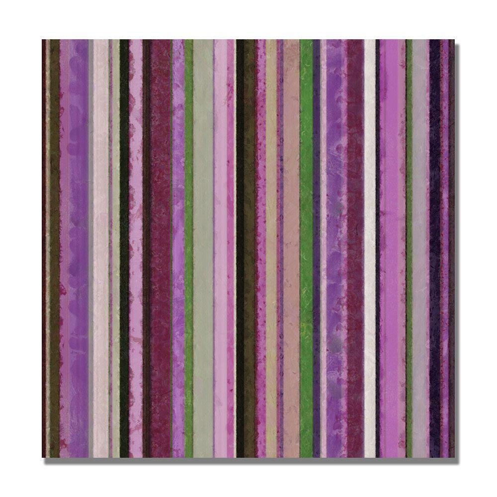 18 in. x 18 in. Comfortable Stripes III Canvas Art