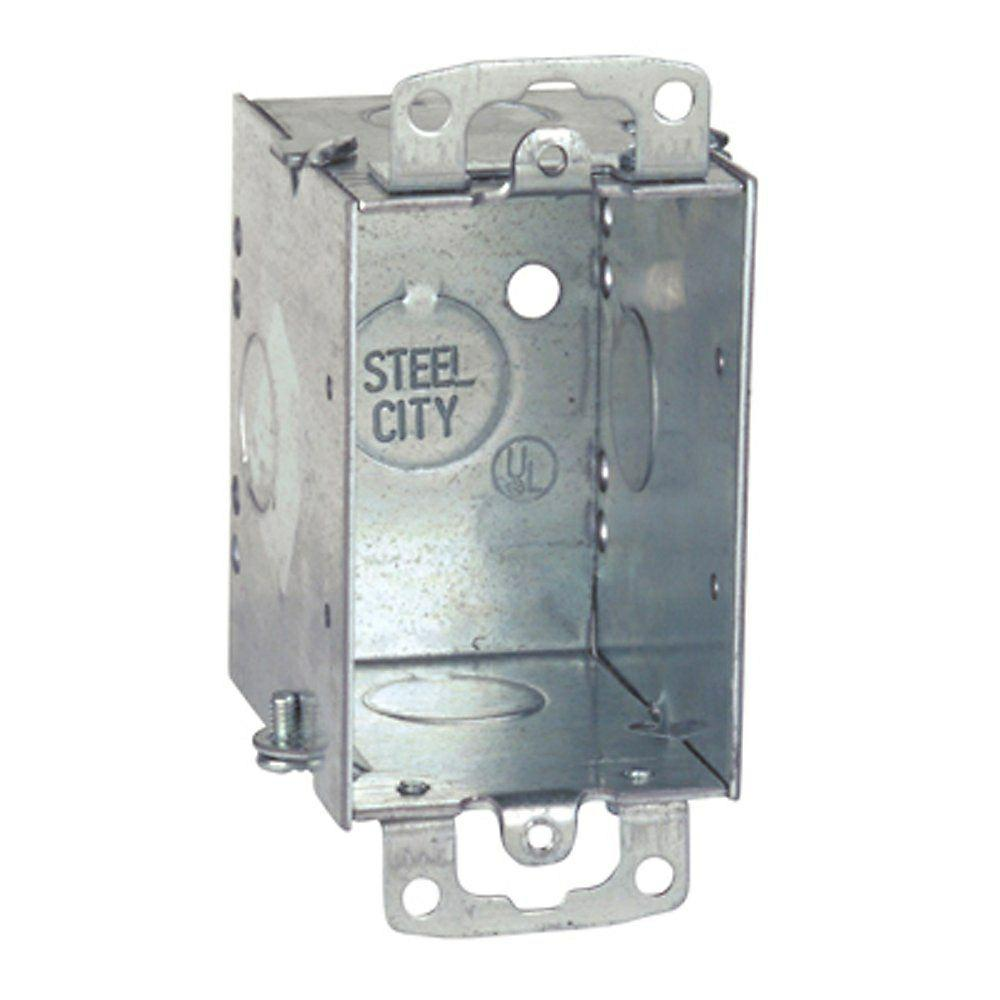 3 in. Steel 14 cu. in. Old Work Switch Box (Case of 25)-CW12-25R ...