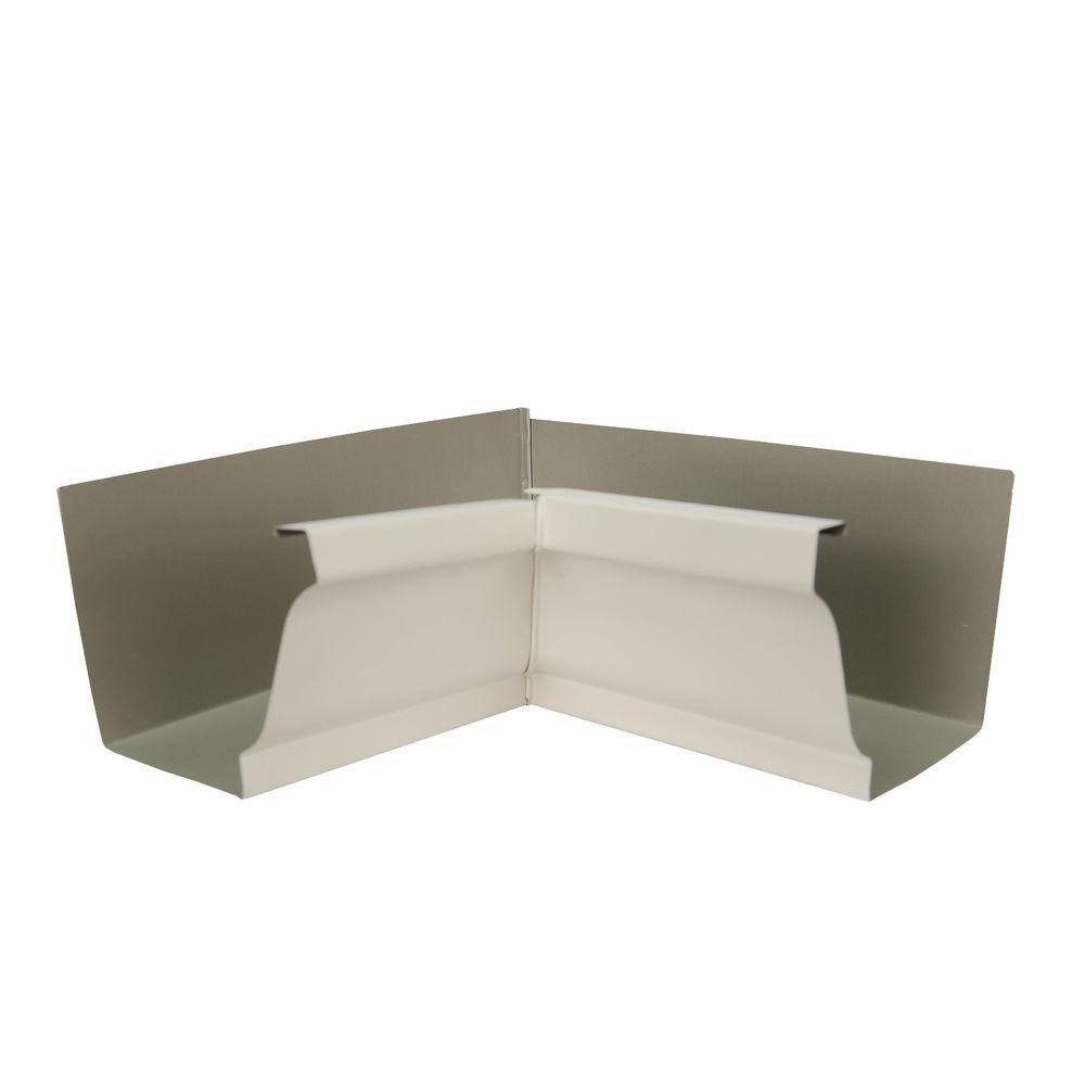 Amerimax Home Products 6 in. Herringbone Aluminum Inside Box Gutter Miter