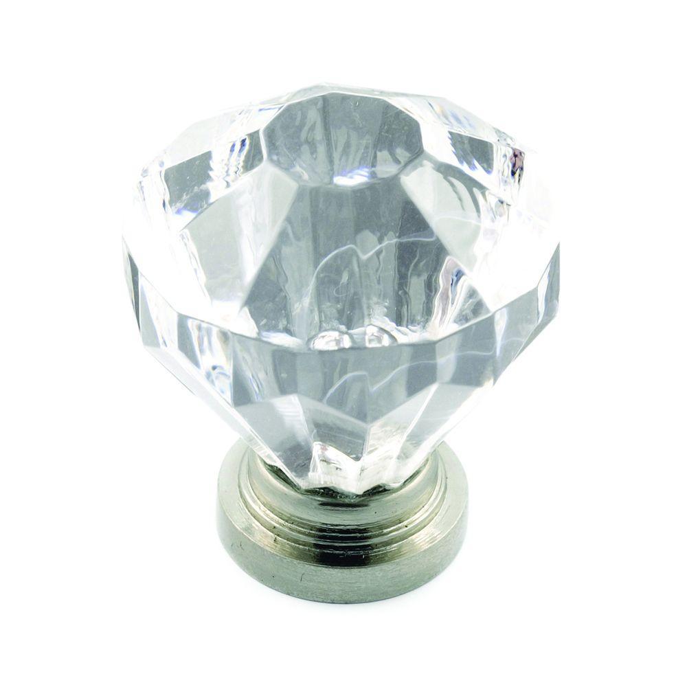 Richelieu Hardware 1-1/4 in. Acrylic Clear Diamond Knob