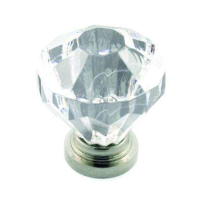 1-1/4 in. Acrylic Clear Diamond Knob