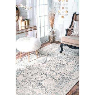 Odell Oriental Persian Ivory 8 ft. x 10 ft. Area Rug