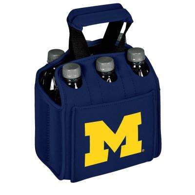 University of Michigan Wolverines 6-Bottles Navy Beverage Carrier