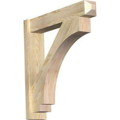 6 in. x 30 in. x 30 in. Douglas Fir Imperial Craftsman Rough Sawn Outlooker