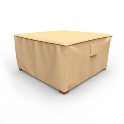 Rust-Oleum NeverWet X-Large Tan Outdoor Square Patio Table Cover/Ottoman Cover