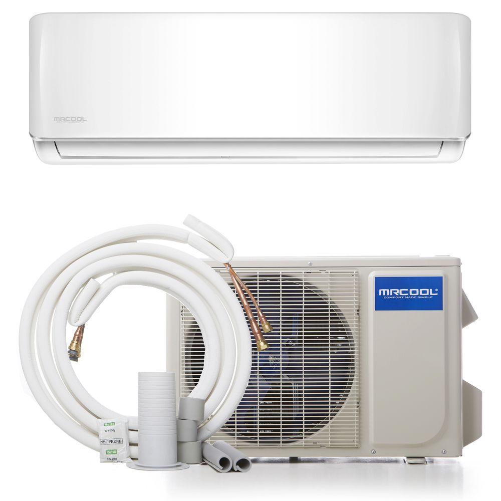 Mrcool diy 12 000 btu 1 ton ductless mini split air for 12000 btu window air conditioner with heat pump