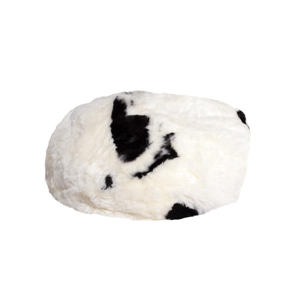 Icelandic Spotted 31 in. x 31 in. Short-Hair Sheepskin Bean Bag