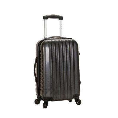 Metallic 20 in. Expandable Carry On Hardside Spinner Luggage, Carbon