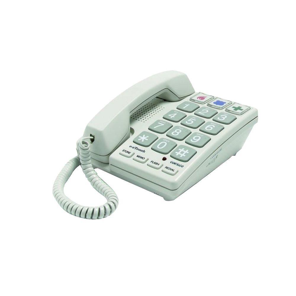 cortelco big button corded telephone sandal itt 2400 the home depot