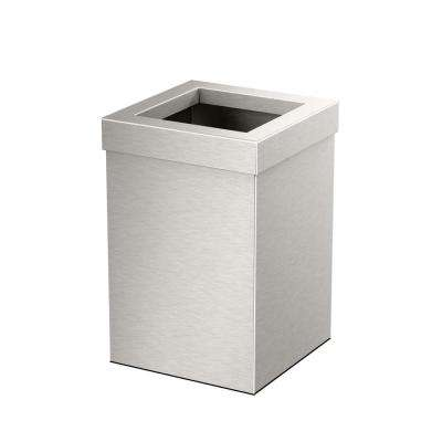 Modern Waste Can Square in Satin Nickel