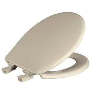Church Whisper Close Round Closed Front Toilet Seat in Bone by Church