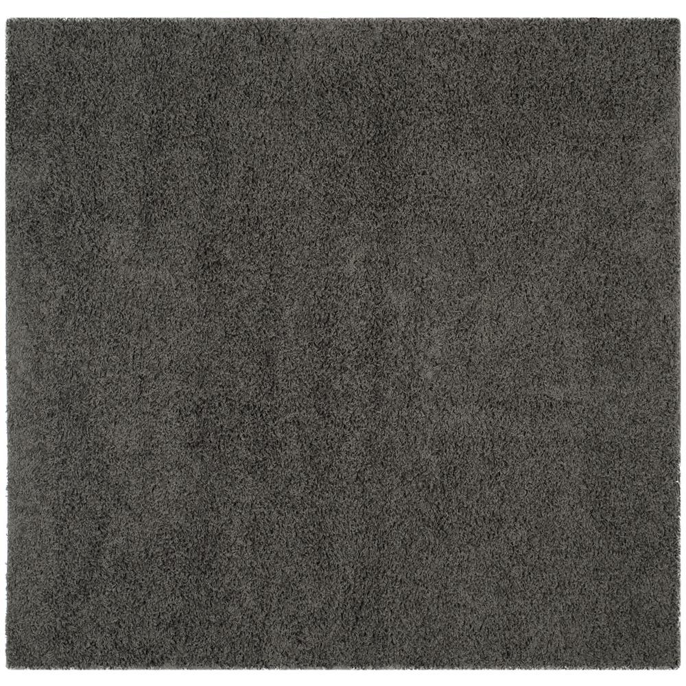 Safavieh Athens Shag Dark Gray 7 ft. x 7 ft. Square Area Rug