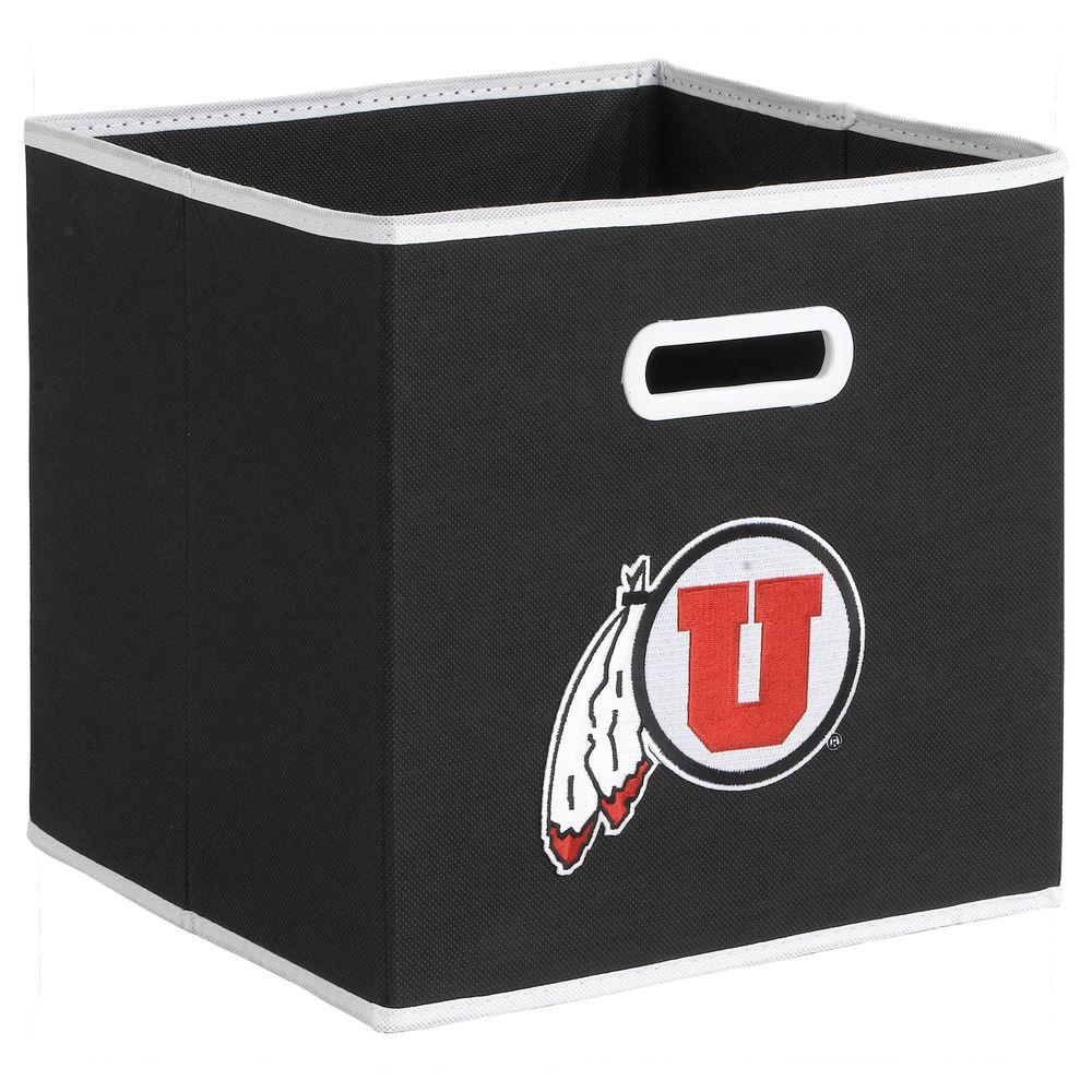 null College STOREITS University of Utah 10-1/2 in. W x 10-1/2 in. H x 11 in. D Black Fabric Storage Drawer