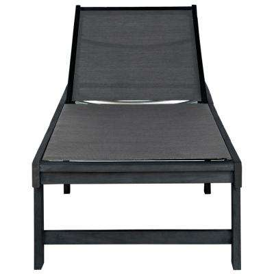 Manteca Dark Slate Gray Adjustable Acacia Wood Outdoor Lounge Chair