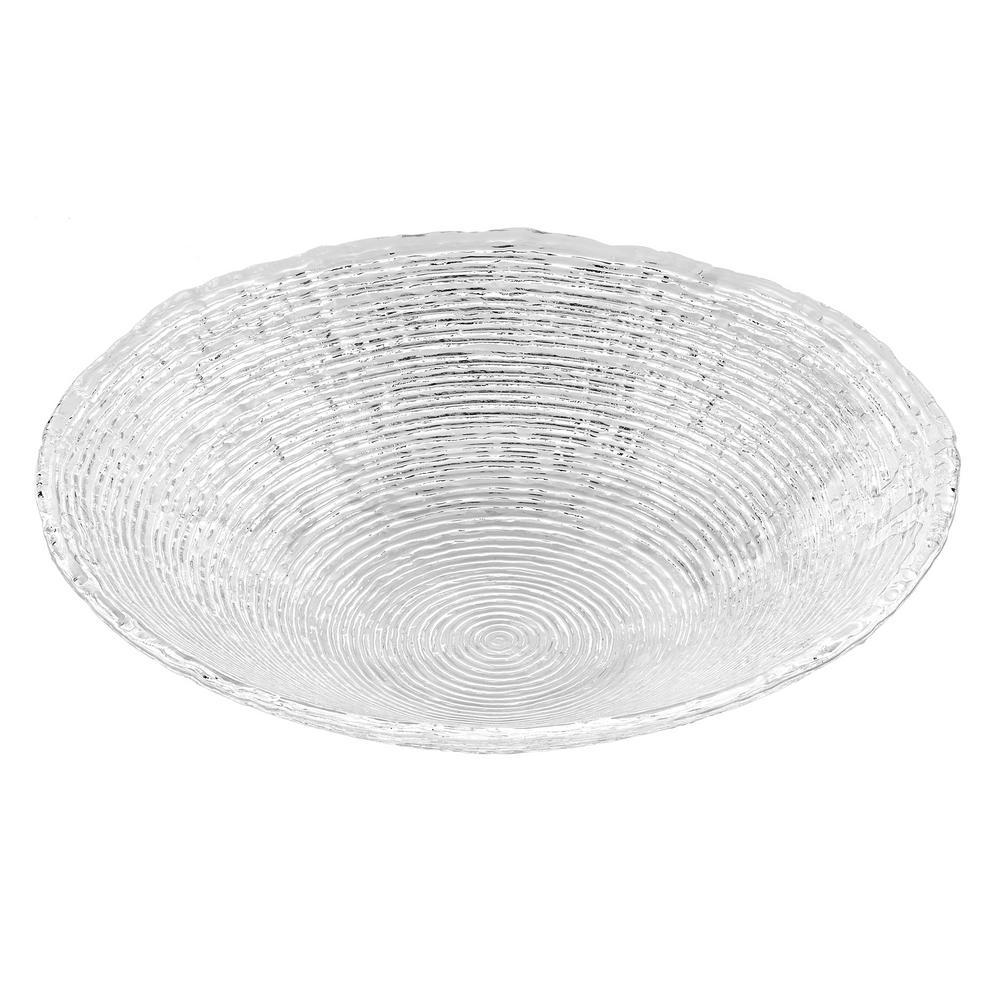 13 in. Hammock Glass Round Bowl