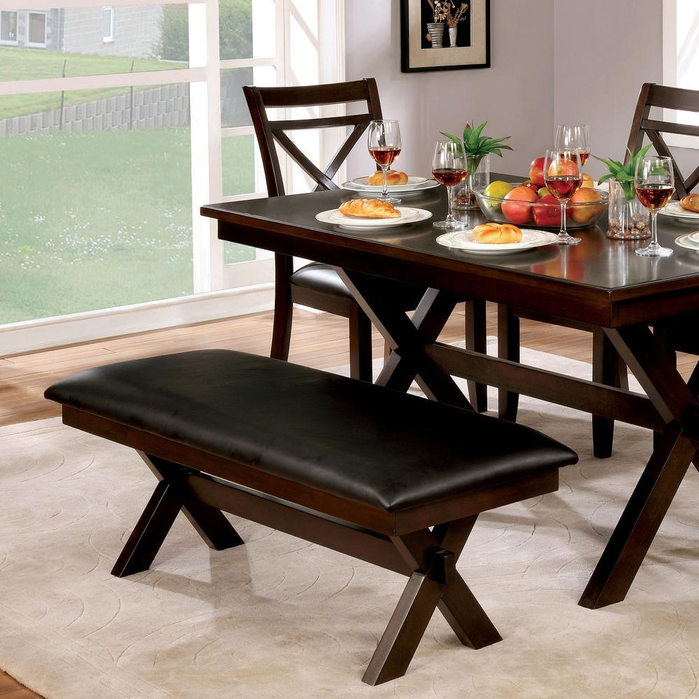 Awesome Furniture Of America Paramus Dark Cherry Leather Cushion Machost Co Dining Chair Design Ideas Machostcouk