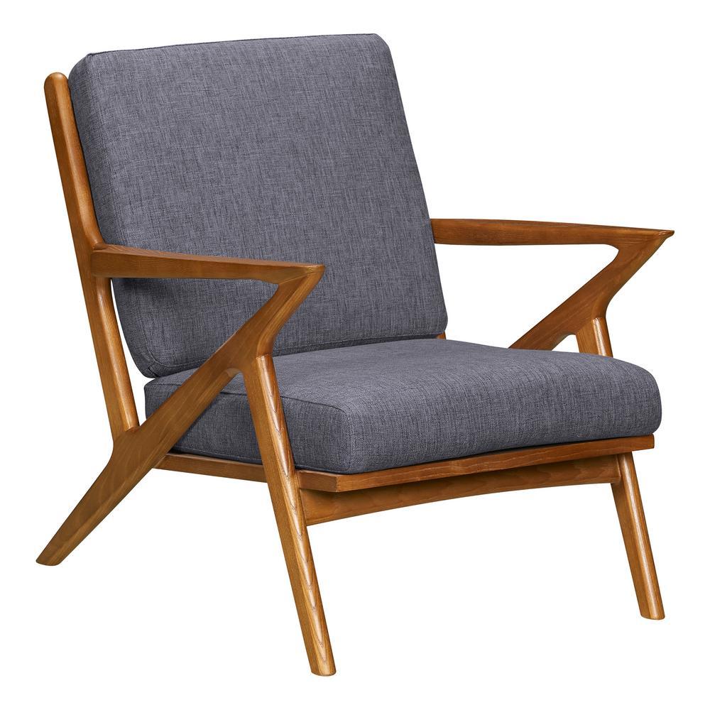 Celtic Dark Grey Fabric Accent Chair