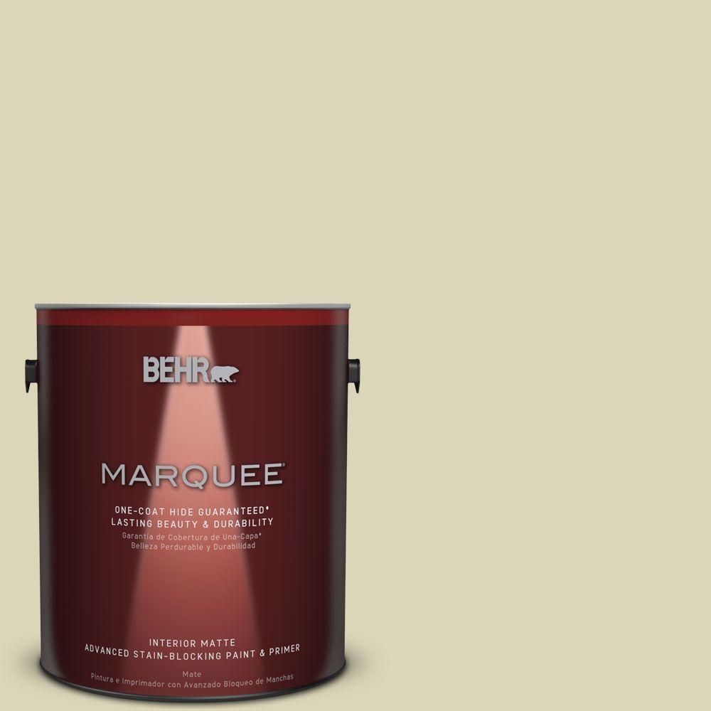 BEHR MARQUEE 1 gal. #MQ3-14 Springday One-Coat Hide Matte Interior Paint