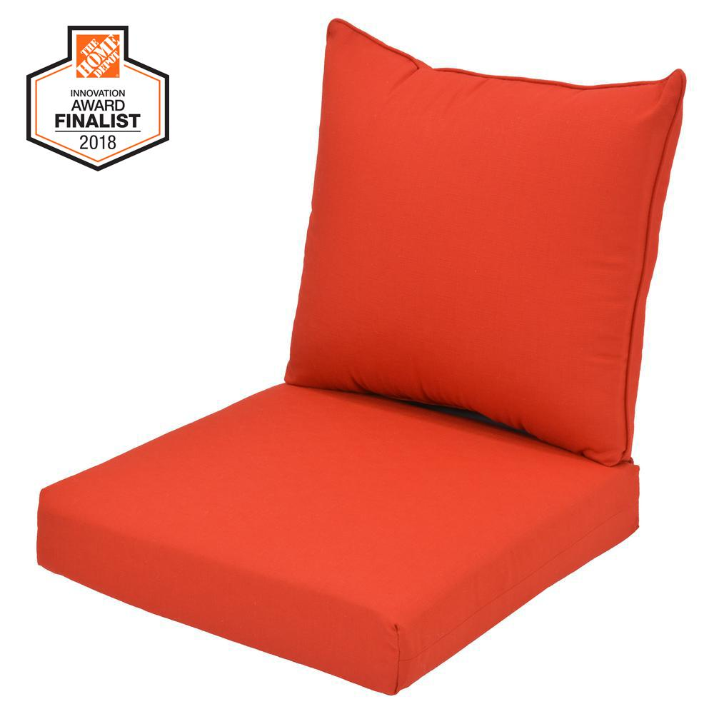 24 x 24 Outdoor Lounge Chair Cushion in CushionGuard Ruby