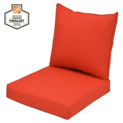 24 in. x 24 in. CushionGuard Ruby Outdoor Lounge Chair Cushion
