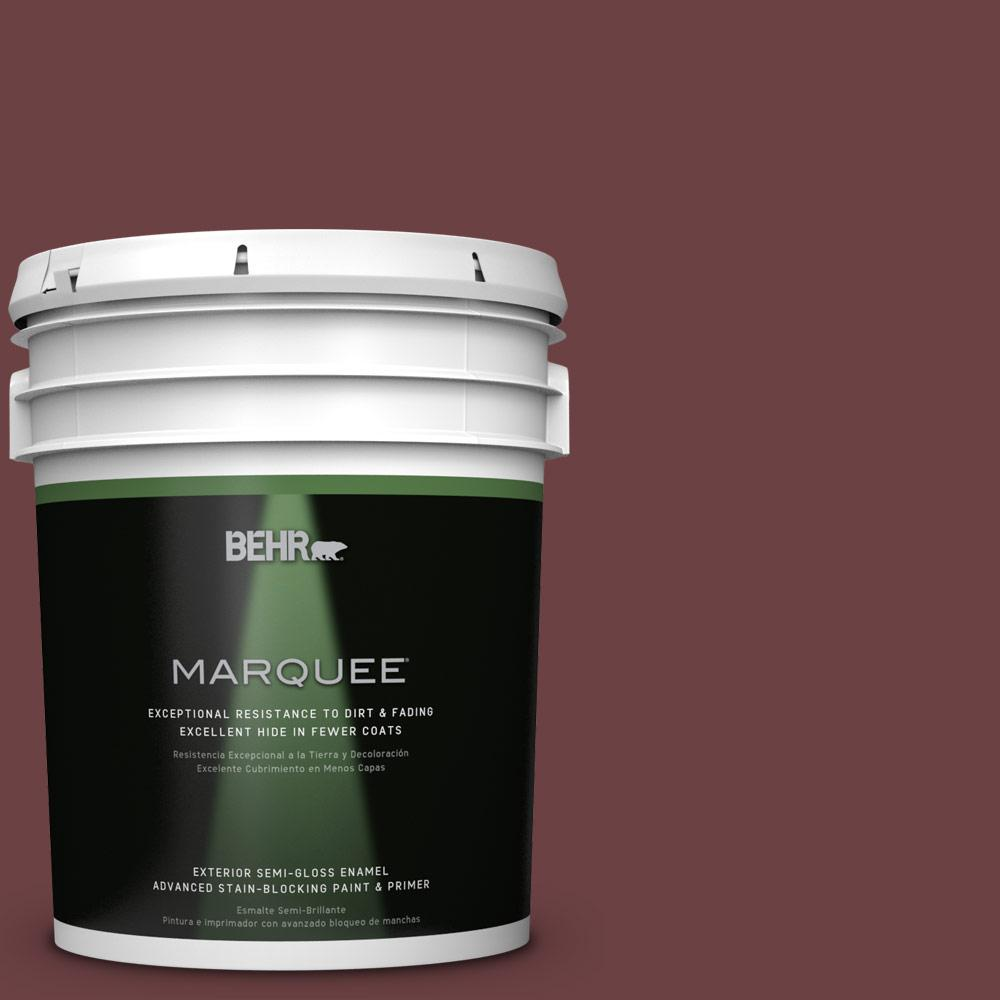 BEHR MARQUEE 5-gal. #BIC-50 Deep Claret Semi-Gloss Enamel Exterior Paint