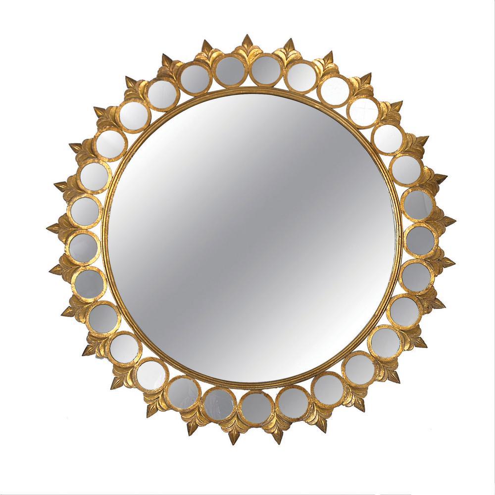 3R Studios Jupiter Gold Framed Mirror