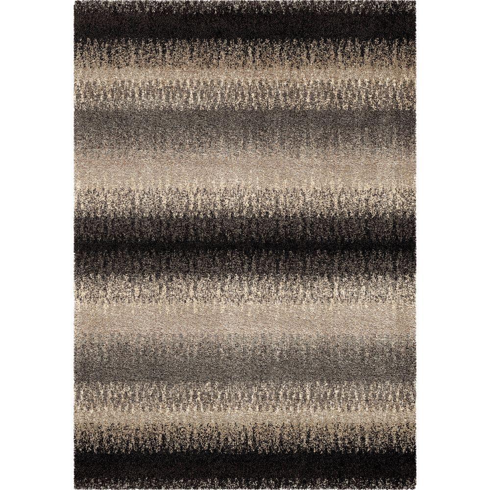 Striped Evening Multi 5 ft. 3 in. x 7 ft. 6 in. Modern Design Stripes Indoor Area Rug