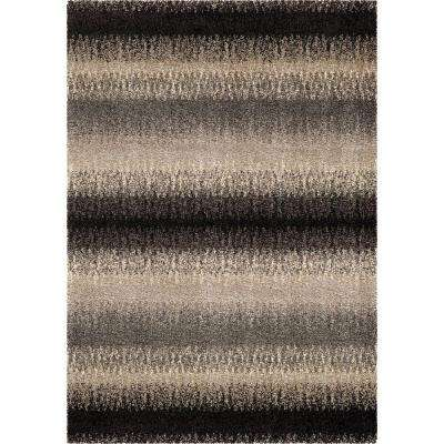 Striped Evening Multi 7 ft. 10 in. x 10 ft. 10 in. Modern Design Stripes Indoor Area Rug