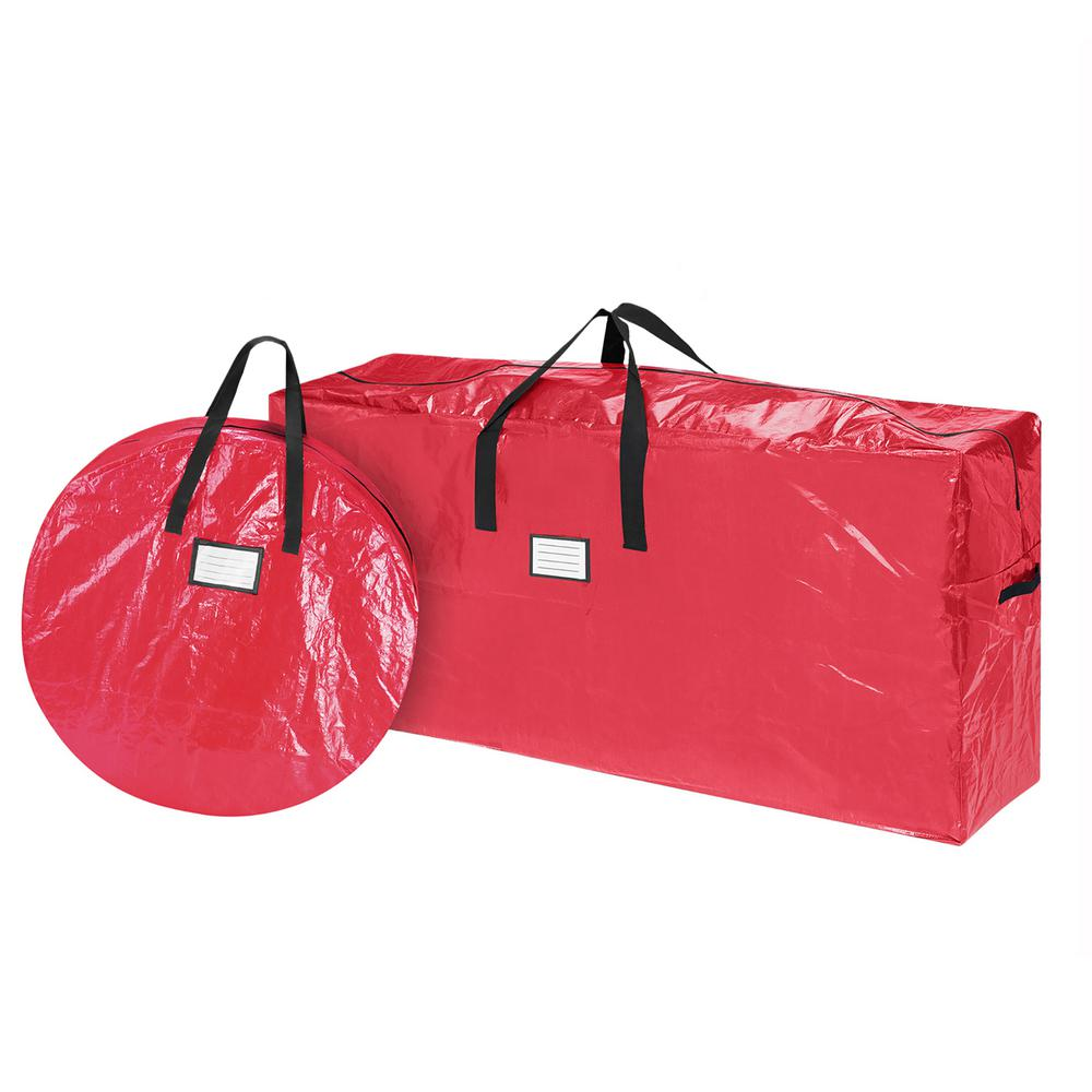 Christmas Tree Bags.Elf Stor Deluxe 30 In Wreath And 9 Ft Polypropylene Christmas Tree Storage Bag Combo