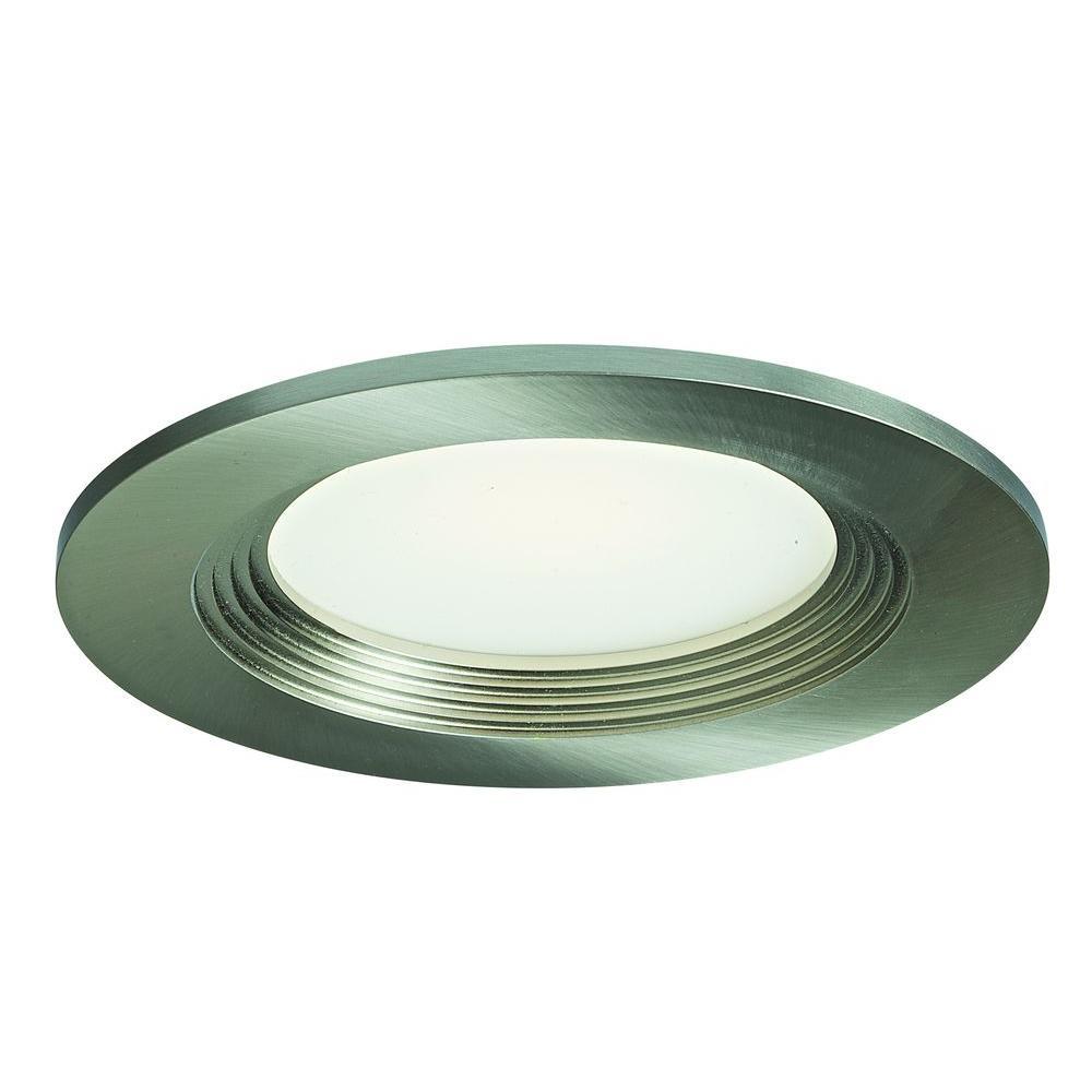 4 in. Satin Nickel Recessed LED Retrofit Down Light