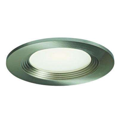 4 in. Satin Nickel Recessed LED Retrofit Down Light