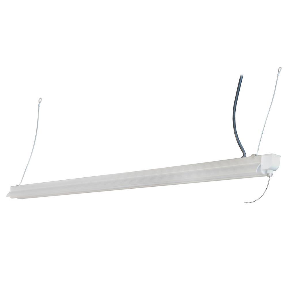Stonepoint LED Lighting 4 ft. White Metal Integrated LED 3200 Lumen Shop Light
