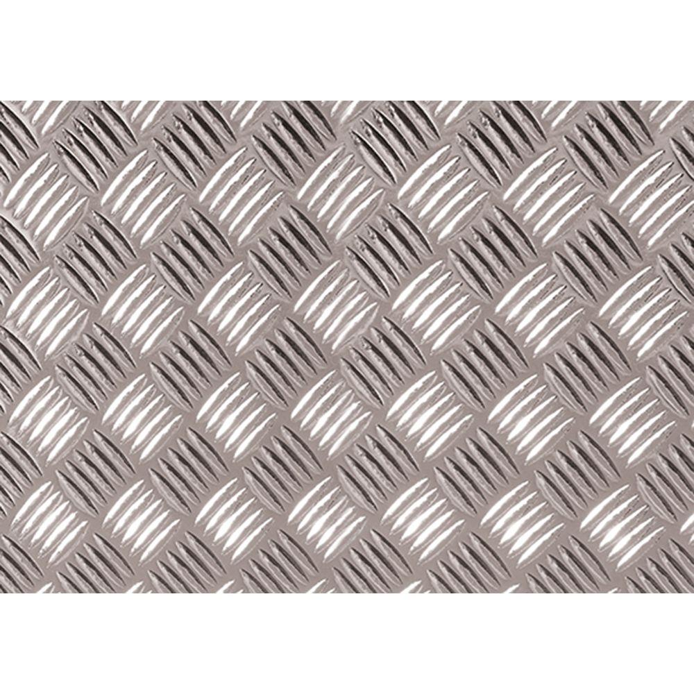 Silver Diamond Plate Decorative Vinyl Decal