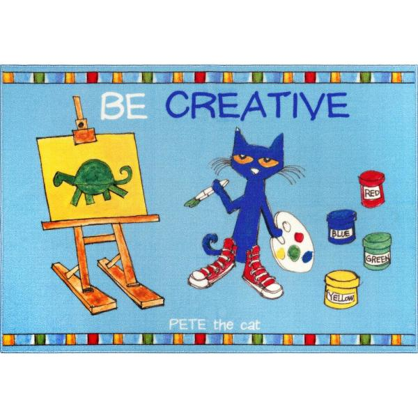 Elementary Multi Be Creative 6 ft. 6 in. x 9 ft. 5 in. Indoor Area Rug
