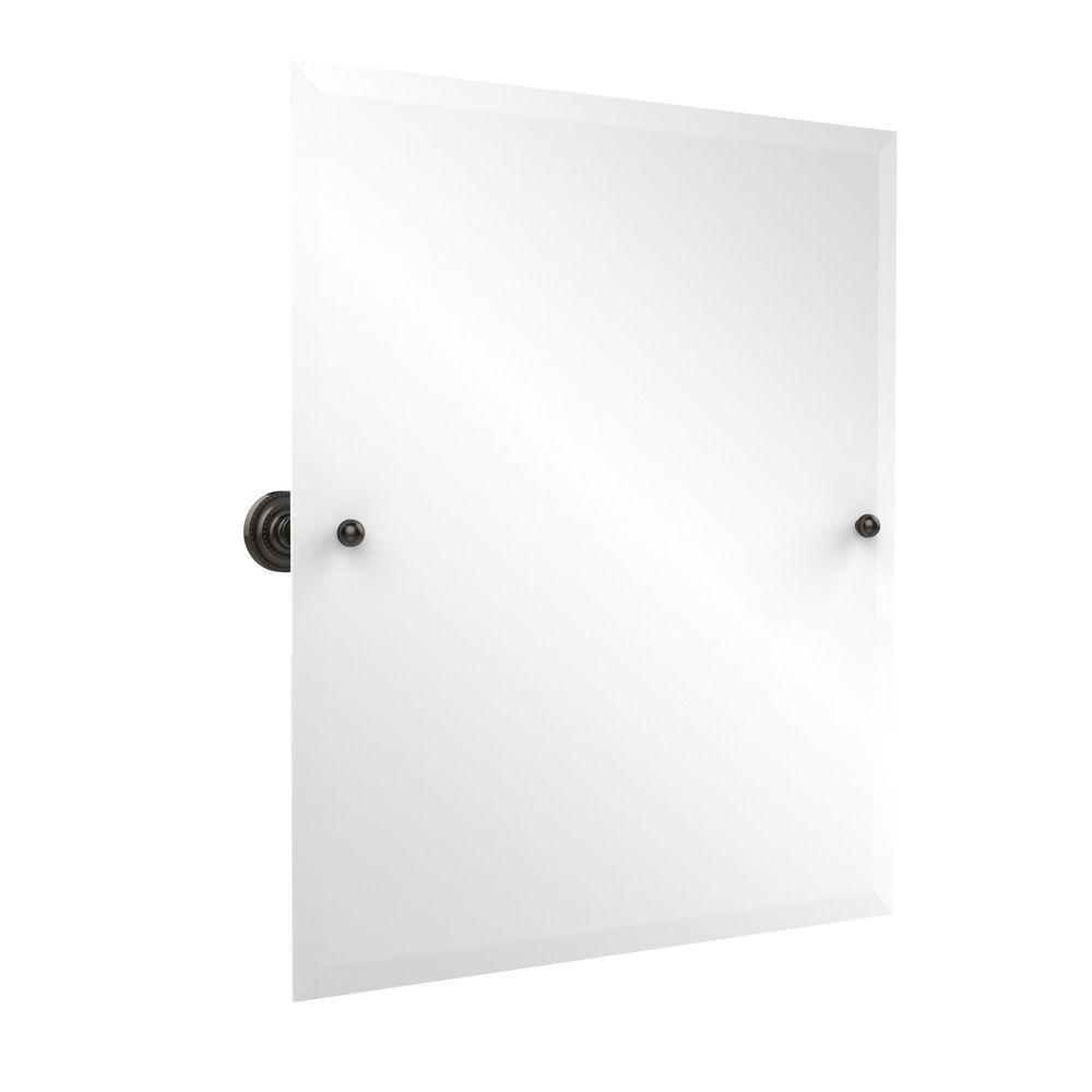 Frameless Rectangular Single Tilt Mirror With Beveled Edge In Oil Rubbed Bronze Dt 92 Orb The Home Depot