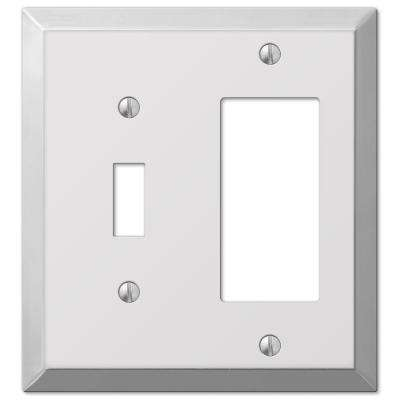 Century Steel 1 Toggle 1 Decora Wall Plate - Chrome