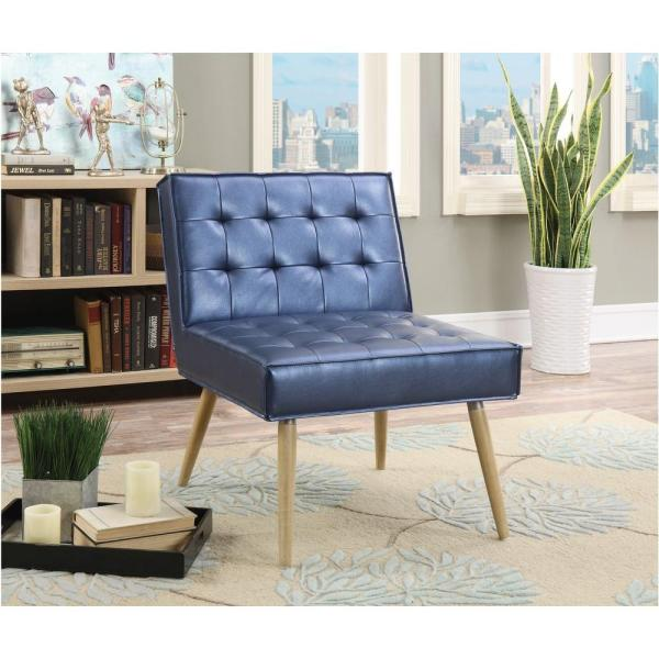 OSP Home Furnishings Amity Sizzle Azure Fabric Tufted Accent Chair