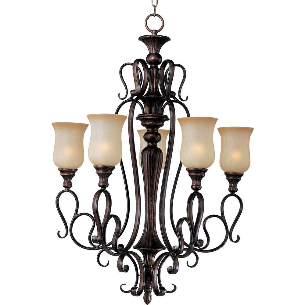 Maxim lighting mediterranean brown chandeliers lighting sausalito single tier chandelier aloadofball Image collections