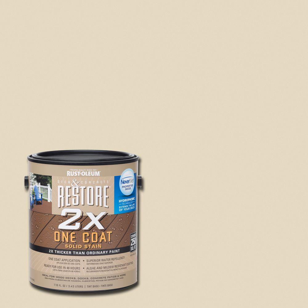 1 gal. 2X Rattan Solid Deck Stain with NeverWet