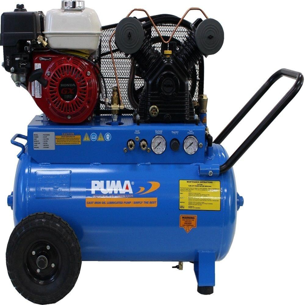5.5 HP Gas Engine Single Stage Horizontal Air Compressor