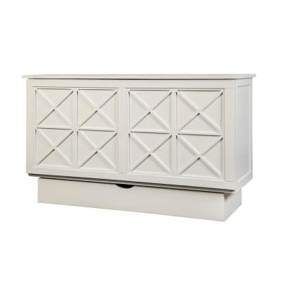 Essex White Queen Size Cabinet Bed