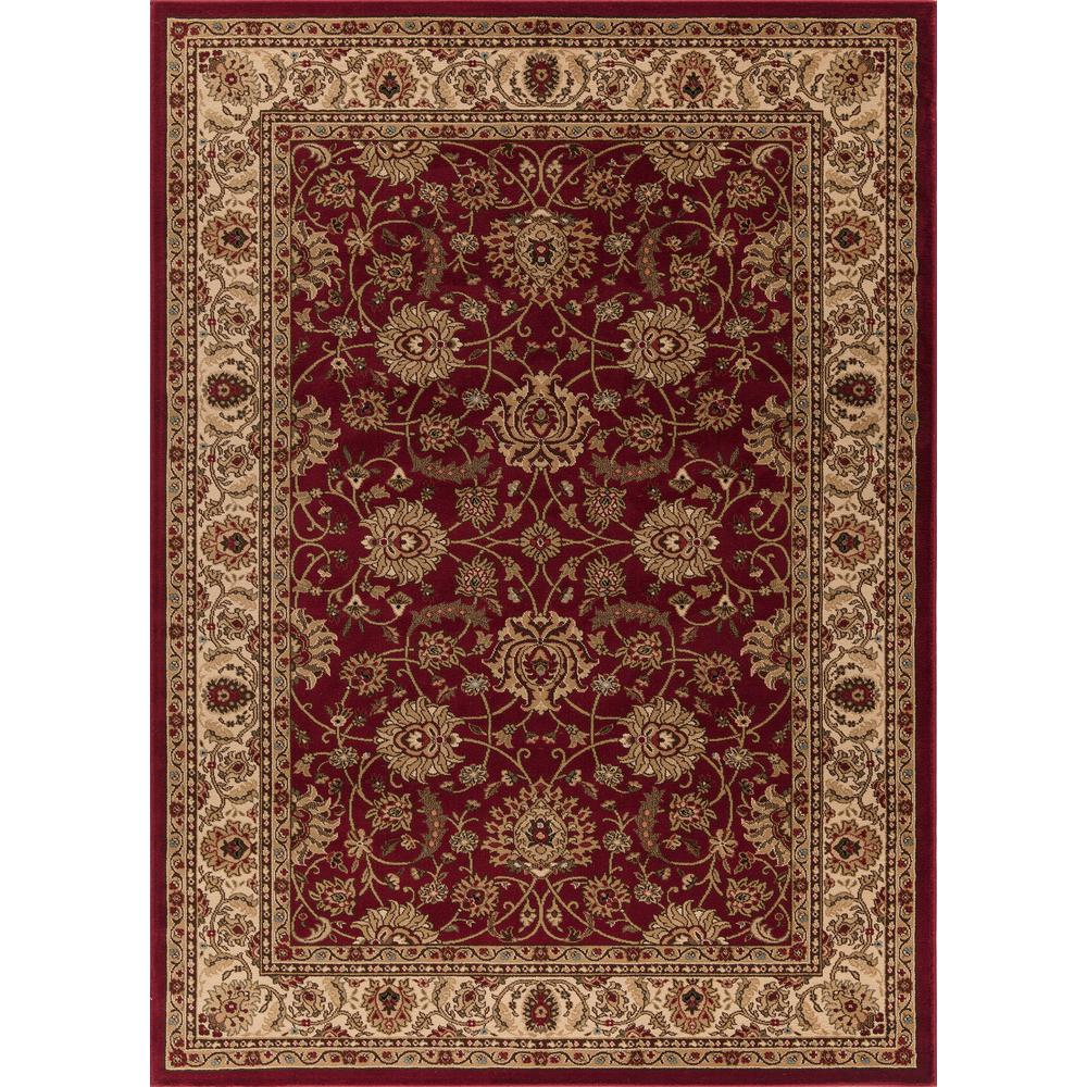 Concord Global Trading Ankara Mahal Red 5 ft. 3 in. x 7 ft. 3 in. Area Rug