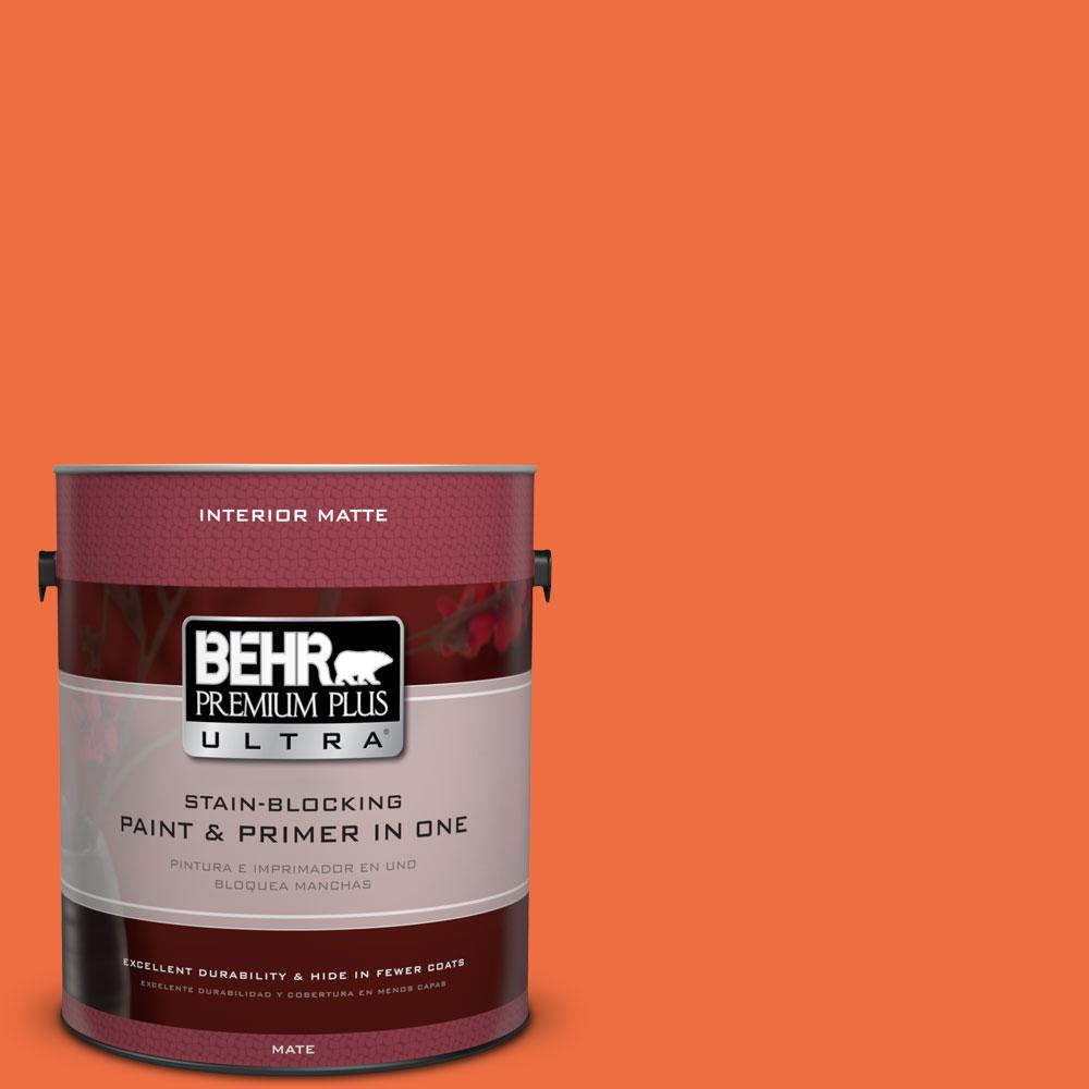 1 gal. #210B-6 Aurora Orange Flat/Matte Interior Paint
