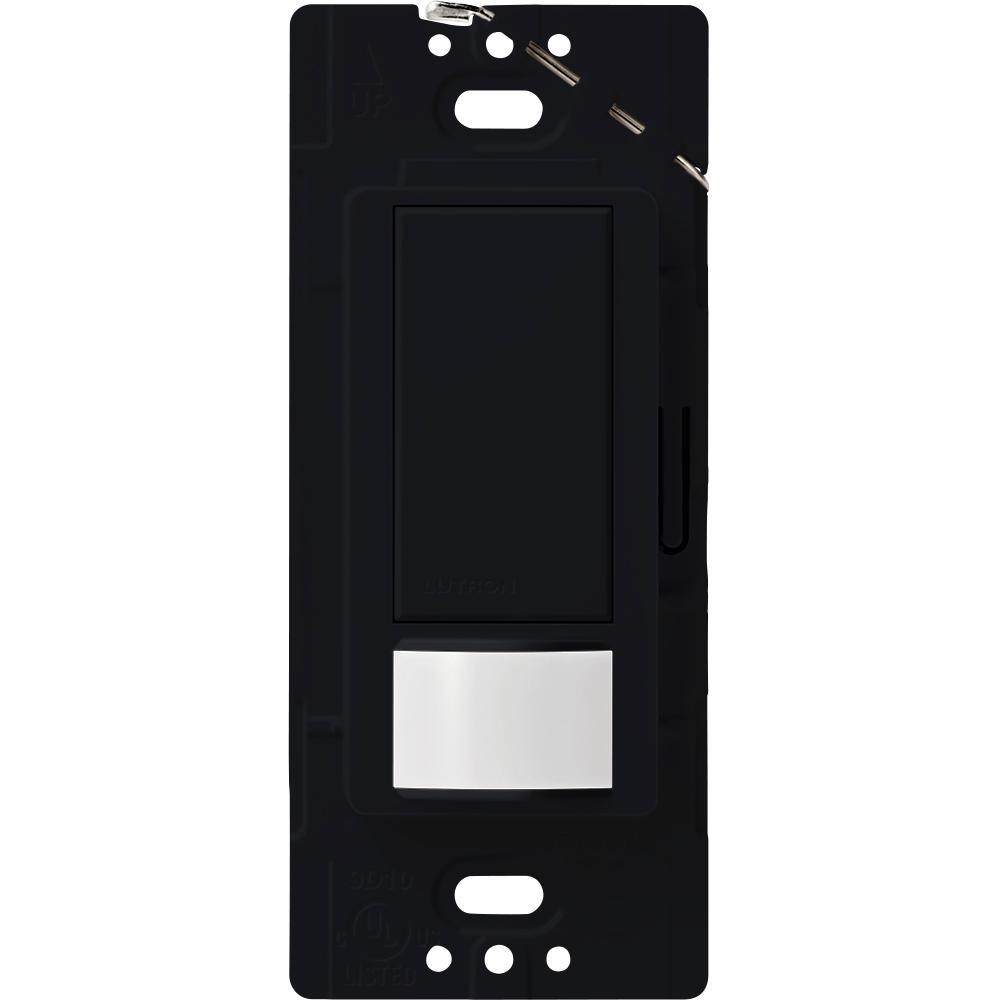 Maestro Vacancy Sensor switch, 2-Amp, Single-Pole, Black
