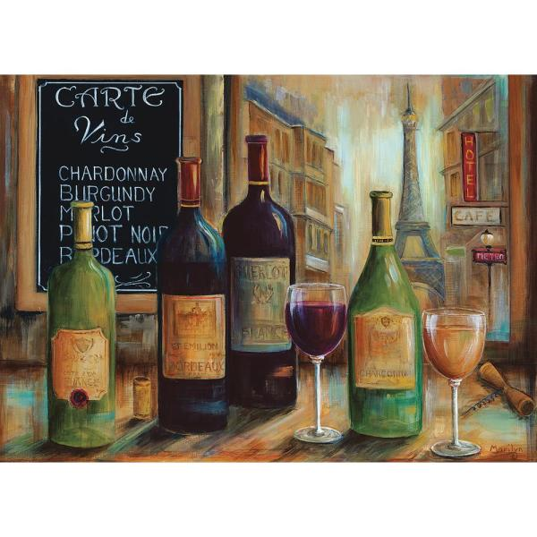 MHF Home Wine Bar Multi-Colored 18 in. W x 13 in. L Polypropylene Placemat Set (4-Pack)