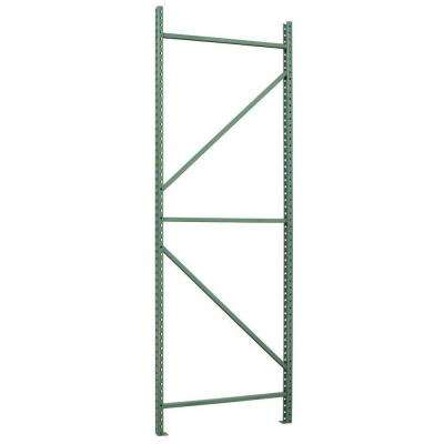 120 in. H x 2.75 in. W x 42 in. D Steel Commercial Pallet Shelving Rack in Green