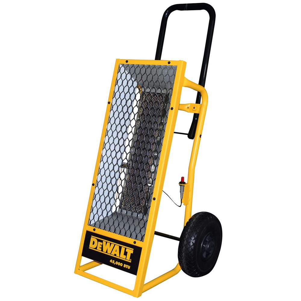 Propane Radiant Heater >> Dewalt 45 000 Btu Portable Radiant Propane Heater Dxh45lp The Home
