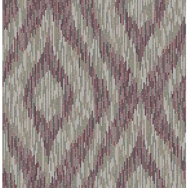 A-Street 8 in. x 10 in. Ethereal Purple Ogee Wallpaper Sample